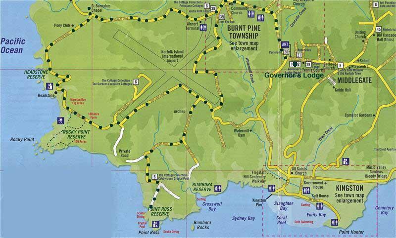 Paul Scott Norfolk Island Day - Norfolk island map