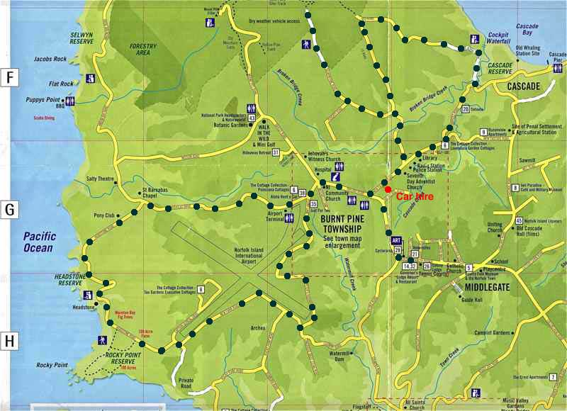 Burnt Pine Norfolk Island Map